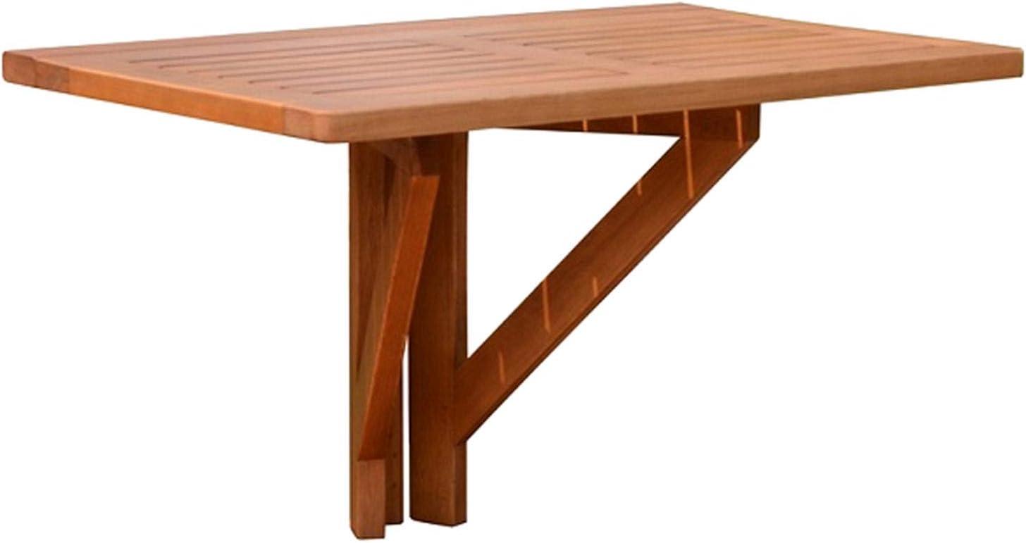 Spetebo - Mesa de balcón plegable de madera de eucalipto (60 x 40 cm)