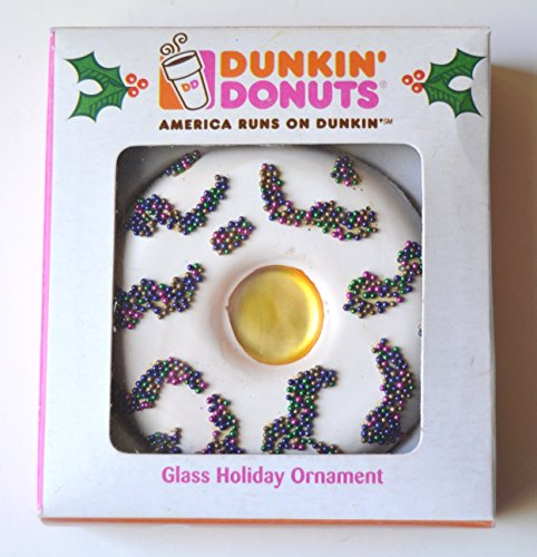Dunkin' Donuts Vanilla Doughnut Glass Holiday -