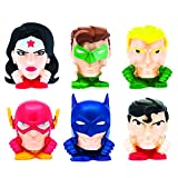 Basic Fun Mash'Ems - Justice League 4 Pack (4 Blind Capsules Per Order) Squishy Collectible Toy