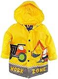 Wippette Little Boys Waterproof Work Zone Construction Trucks Raincoat Jacket, Yellow, 5