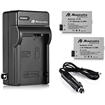 LP-E8 Powerextra 2 Pack Replacement Battery & Charger Compatible for Canon LP-E8 and Canon Rebel T3i, T2i, T4i, T5i, EOS 600D, 550D, 650D, 700D, Kiss X5, X4, Kiss X6, LC-E8E