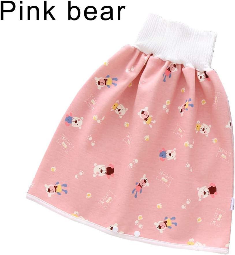 XinXiang Comfy Childrens Diaper Skirt Shorts 2 in 1 Waterproof Leak-Proof Washable Baby Kid Diaper Skirt Pants