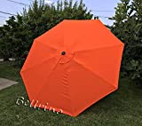 umbrella replacement cover - BELLRINO DECOR Replacement STRONG AND THICK Umbrella Canopy for 9ft 8 Ribs (Canopy Only) (TANGO ORANGE)