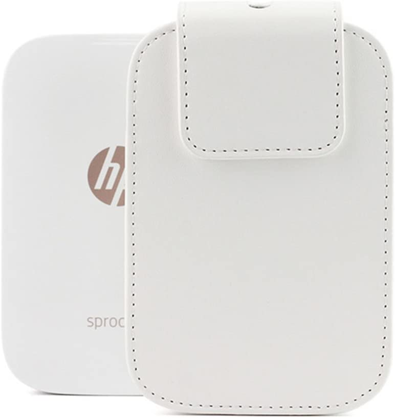 HP Sprocket Travel Case - Bemaxy Portable PU Leather Protective Bag for HP Sprocket Photo Printer (White)