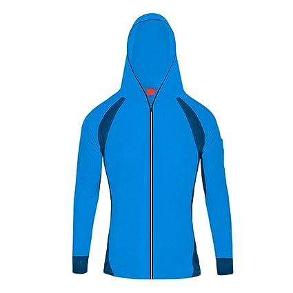 Byqny Aire Libre Cortavientos Hombres Mujeres Impermeable UV Casual Softshell Funciones Chaqueta Con Capucha De Viento… Pl4aym