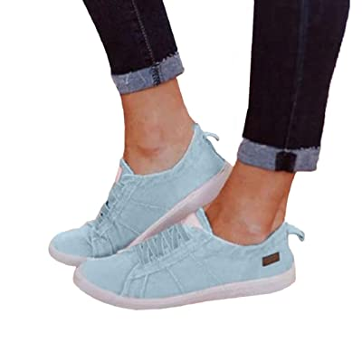 LowProfile Women's Fashion Soft Shoes Casual Canvas Loafers Slip On Flats Round Toe Moccasins Breathable Driving Shoes: Clothing