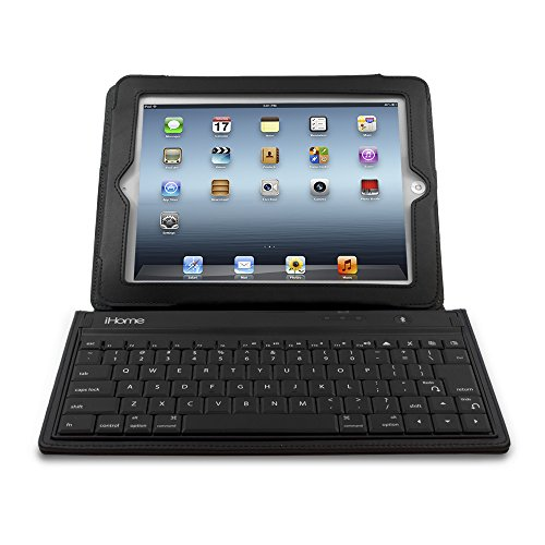 iHome Bluetooth Keyboard and Leather Case for iPad 2 - Black (IH-IP2100) (Ipad Air Case I Home compare prices)