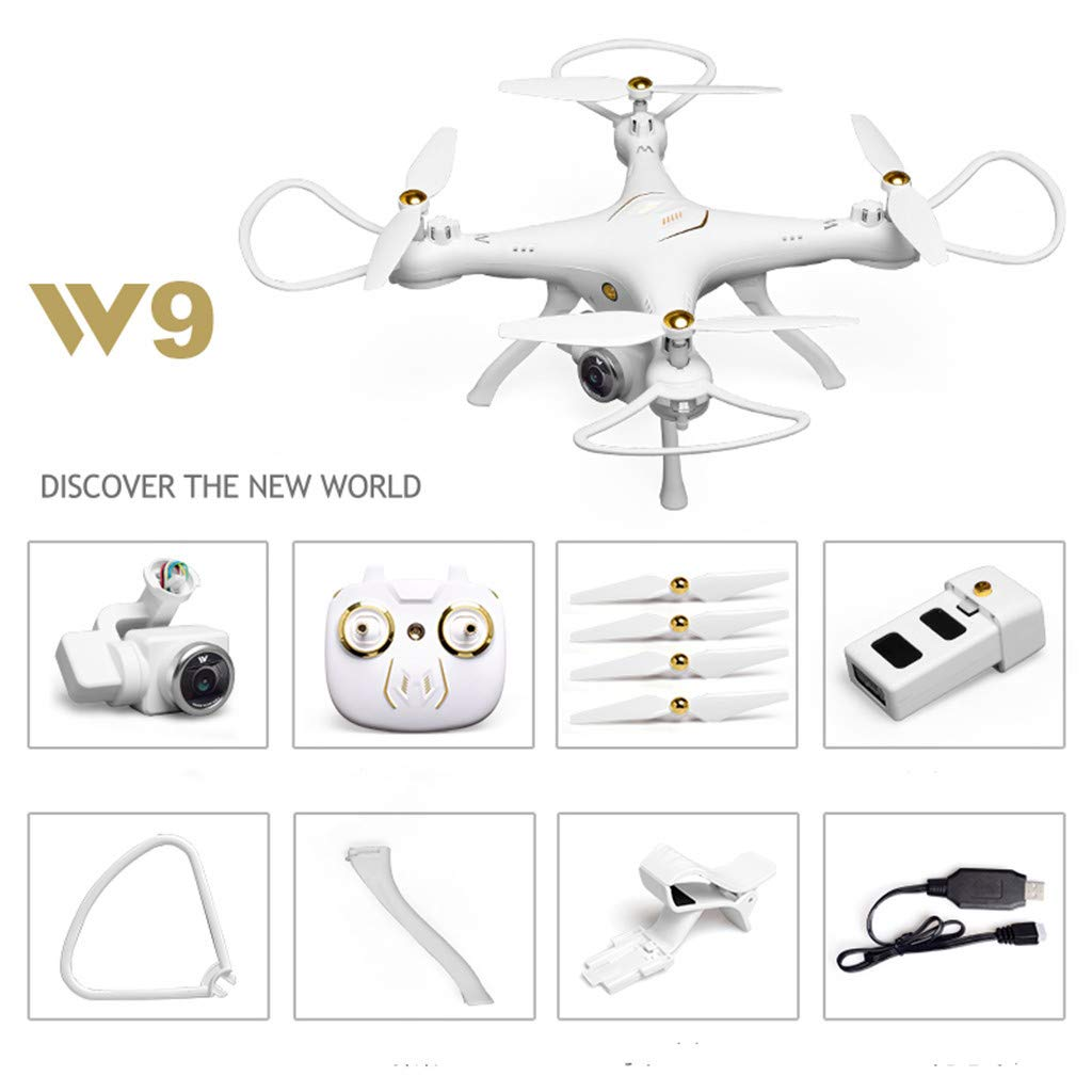 MOZATE Attop W9 WiFi GPS 1080P Camera Drone Altitude Hold Mode Headless Quadcopter (White) by MOZATE (Image #2)
