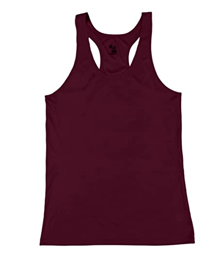 952bbb51e28 Image Unavailable. Image not available for. Color  Badger Sport Maroon  Ladies Medium B-Core Moisture Wicking Racerback Tank Sports Top