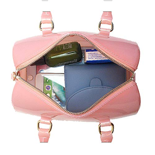 Semi Godw Boston A clear Candy Fashion Silver Donna Jelly Spalla coloured Bag Handbag Tracolla Pvc Borsa 4IFISq