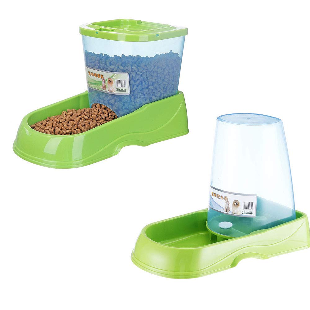 OTENGD Pet Feeder and Waterer Self-Dispensing Gravity Waterer Dispenser Set Interactive Dog Cat Training Toy Slow Feeder Beautifully Designed Provide Convenience
