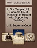 U S V. Temple U. S. Supreme Court Transcript of Record with Supporting Pleadings, , 1270116169
