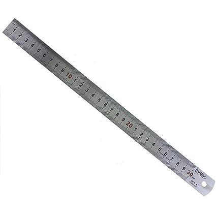 Ogquaton Regla de acero inoxidable Durable Regla recta Reglas de medición Regla de escala Herramienta de medición de papelería para uso de la oficina ...