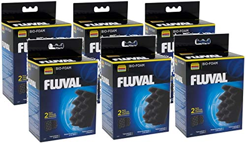 Hagen Fluval 12 Pack of 306/406 Bio-Foam Filters, 6 Boxes Containing 2 Filters Each