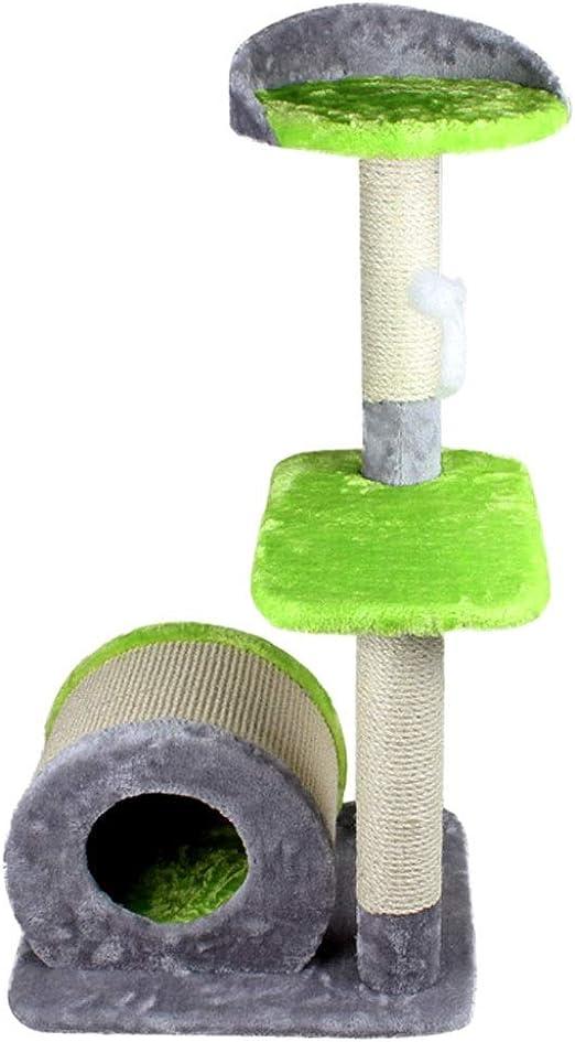 MRZ Árbol Rascador para Gatos, Rascador De Suelo A Techo para Gatos, Poste Escalador De Sisal Natural, Extensible, Arbol Rascador De Actividades Poste (Color : Green): Amazon.es: Productos para mascotas