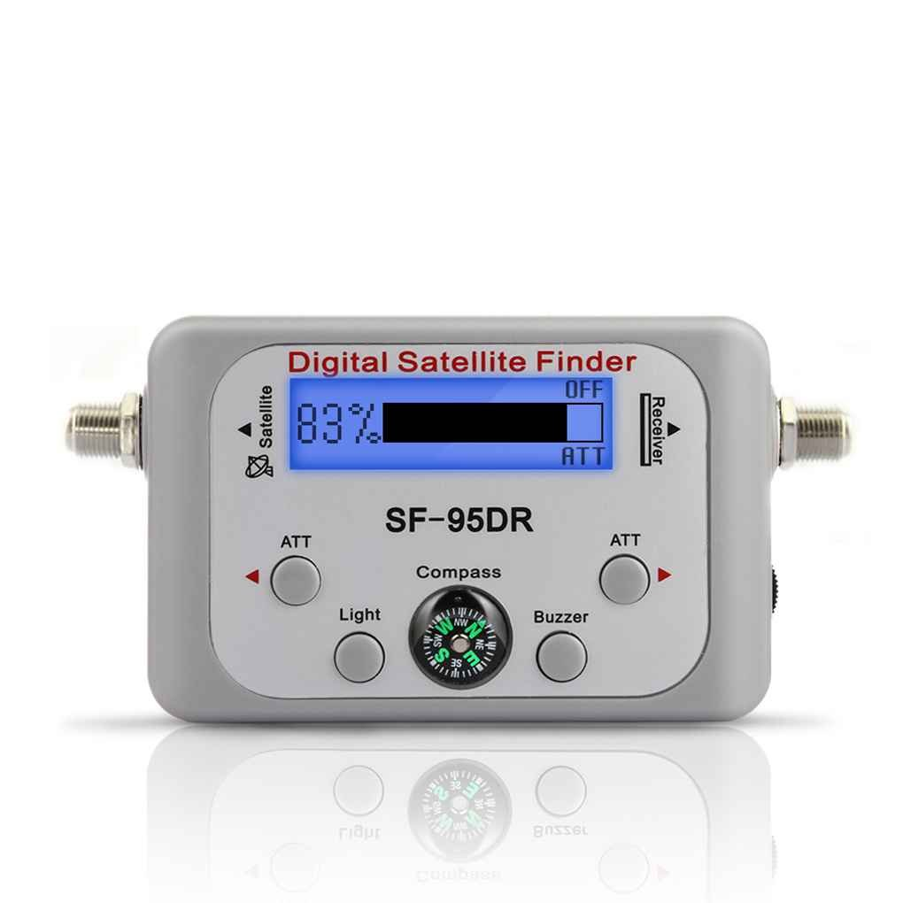 M-Egal TV Receiver Decoder Digital Satellite Finder Signal Meter for Directv Dish Network FTA Signal Pointer SF-95DR
