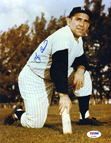 YOGI BERRA PSA DNA COA Autograph 8x10 Photo Hand Signed ()