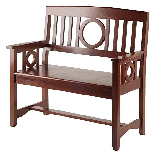 Winsome Wood Ollie Bench, Walnut (Winsome Walnut Bench)