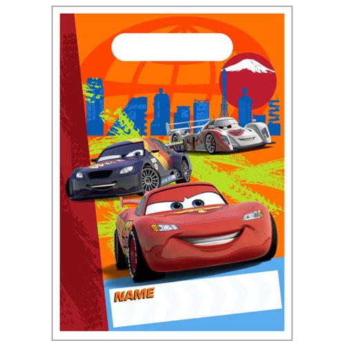 [Disney's Cars 2 - Treat Bags Party Accessory] (Cars Land Costumes)