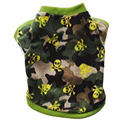 YZBear Pet Small Coat Dog Puppy Skull T-Shirt Tops Warm Spring Autumn Winter Clothes