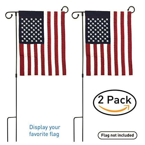 EasyGo Garden & Yard Flag Stand - Holds flags up to 12'' in width – Steel Black Garden Flag Pole Holder without Flag - 3 Pieces for Easy Storage by EasyGoProducts (Image #2)
