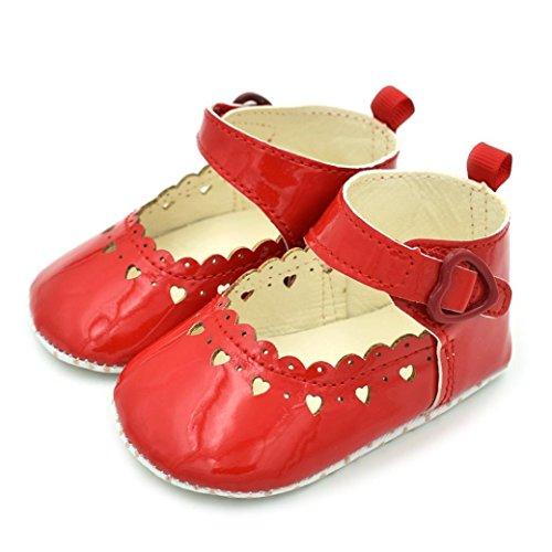 Hunpta Baby Mädchen Schuhe Fransen Soft Soled Non-Slip Schuhe Schuhe Hollow Love Schuhe Rot