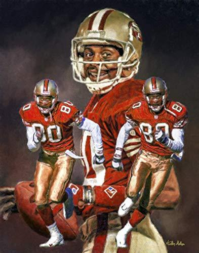 Jerry Rice San Francisco 49ers Wide Receiver NFL Football Art Print 11x14-24x30 (Jerry Rice Photograph)