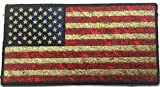 Patch Squad Men's Distressed American Flag Embroidered Patch (5''x3'' Distressed Iron/Sew On)