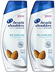 Head & Shoulders Dry Scalp Care with Almond Oil Anti-Dandruff Shampoo 23.7 Fl Oz (Pack of 2)
