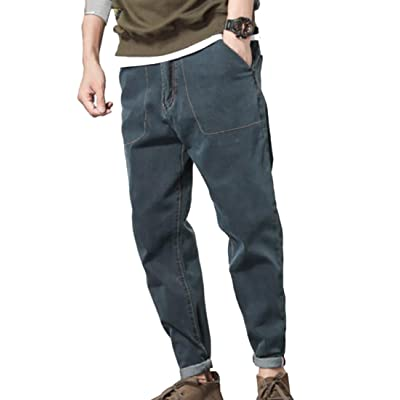 WSPLYSPJY Mens Casual Loose Fit Military Army Cargo Combat Work Pants