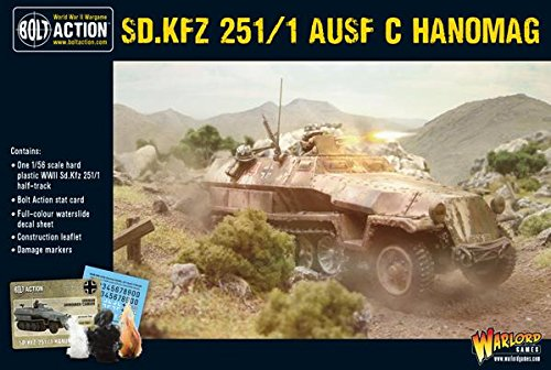 Bolt Action Sd.Kfz 251/1 Ausf C Hanomag  Half Track 1:56 WWII Military Wargaming Plastic Model Kit