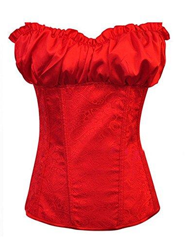 THEE Corsé Corte Push-up Cinturón de Formación Rojo