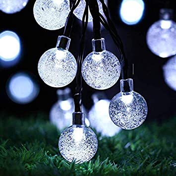 usboo outdoor solar string lights for christmas party wedding yard and holiday decorations solar powered waterproof