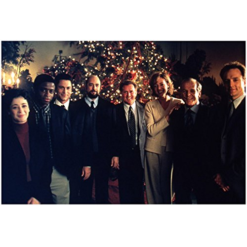 The West Wing (TV Series 1999 - 2006) 8 Inch x 10 Inch Photo from Slide Cast Pic in Front of Christmas Tree kn