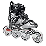 Roces 400721 Men's Model Lab Fitness Inline Skate, US 12, Black/Silver