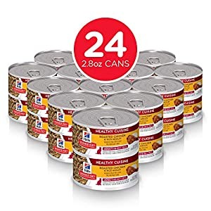 Hill's Science Diet Wet Cat Food, Adult, Healthy Cuisine, Roasted Chicken & Rice for Healthy Weight & Weight Management, 2.8 oz Cans, 24-pack