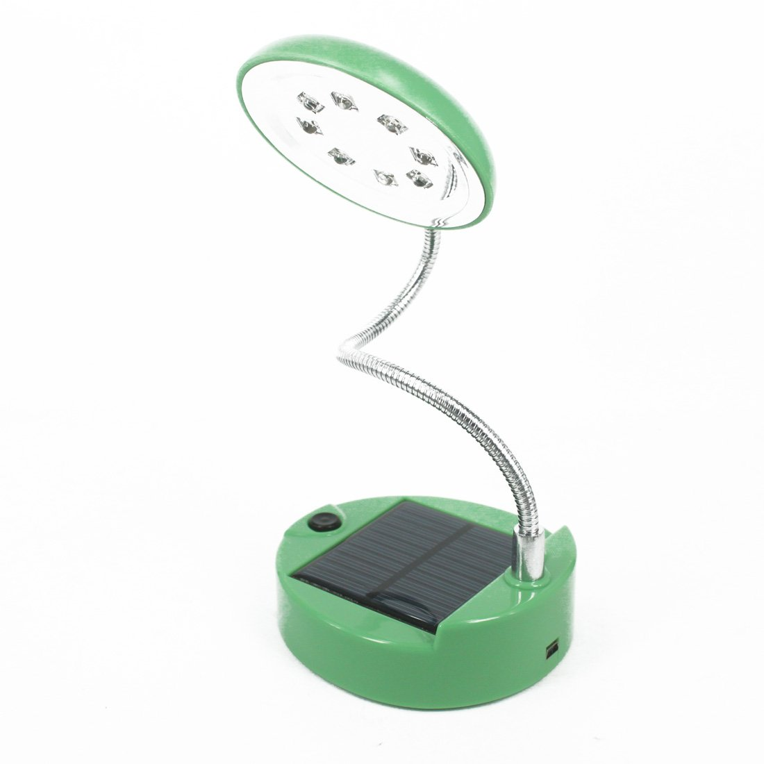 Andux Zone Solar USB Power 8 LED luz de lectura,lámpara de escritorio solar CS-TD01 (verde)