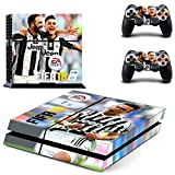 Tokaski® FIFA 18 PS4 Designer Skin Game Console System 2 Controller Decal Vinyl Protective Covers Stickers for Sony PlayStation 4
