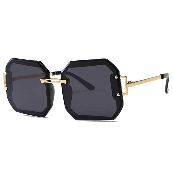 JiXuan Oversized Polarized Mujer Men Square Gafas de sol sin ...
