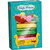 HABA Sleepy Princess Pile Up - 2 Enchanting Stacking Games (Cooperative and Competitive Variation) for 2-4 Bed Builders Ages 3 and Up