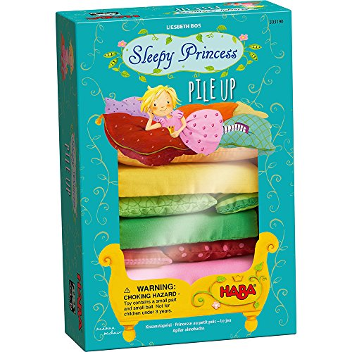 HABA Sleepy Princess Pile Up - A Stacking Game of Skill with a Cooperative and Competitive Variation by HABA