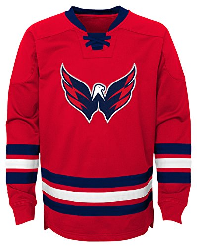NHL Washington Capitals Youth Boys Classic Hockey Crew, X-Large(18), Red