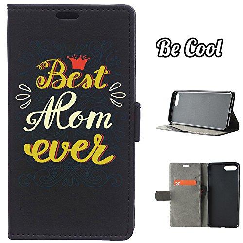 BeCool® - Housse étui [portefeuille] iPhone 7 Plus, [Fonction support], protège et s'adapte a la perfection a ton Smartphone. Elegan Wallet. La meilleure maman de tous les temps