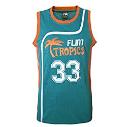 "MOLPE Men's Moon 33"" Flint Tropics Basketball Jersey S-XXXL Green"