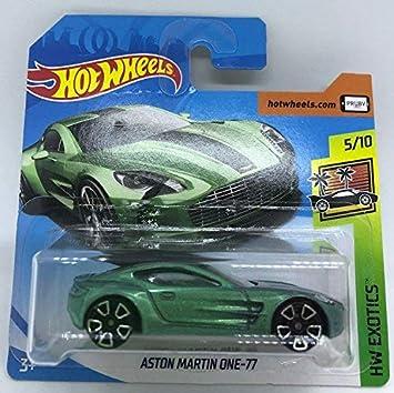 Hot Wheels 2018 Aston Martin One 77 Metallic Green 5 10 Hw Exotics 117 365 Short Card Amazon De Spielzeug