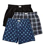 Lucky Assorted Woven Boxers - 3 Pack (00CPB02) L/Moonless Night/Denim