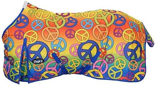 Medium Peace Signs by Tough 1 Tough-1 600 Denier Waterproof Poly Sheep Blanket Peace Sign Prints