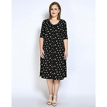 Amazon.com : JIALELE Women\'s Plus Size Shift T Shirt Tunic Dress ...