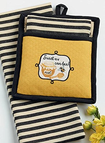 Sweet as Can Bee! Potholder Set-beekeeper gifts
