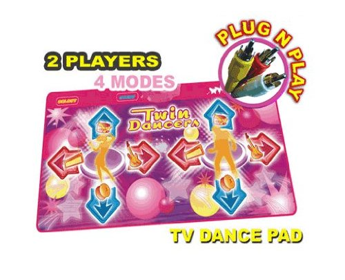 Pink Twin Plug & Play DDR Game / Dance Mats - No System Required